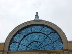arched window on the building