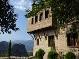 Monastery building, Greece, Meteora