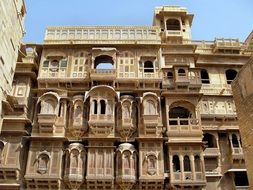 building facade in Jaipur, India