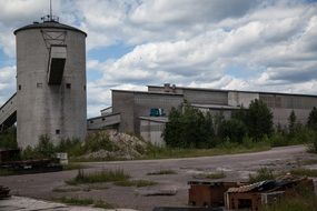 Abandoned industrial Factory Outdoors