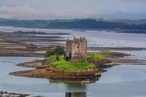 Creagan Appin Castle Argyll Surrounded by water