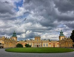 palace in a park in poland