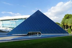 glass triangular building