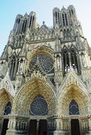 gothic cathedral in Reims