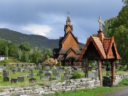 old cemetery at Stave Church, Norway