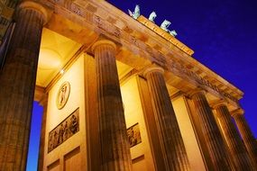 Brandenburg Gate on Potsdamer platz Berlin