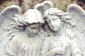 stone statues of angels