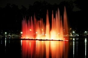 Ibirapuera Park colorful night vision