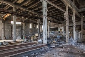 empty abandoned factory
