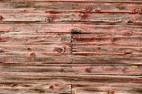 Barnwood Texture Red