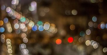 Barcelona night lights in bokeh