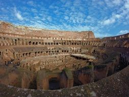 coliseum in rome under blue sky