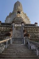 stairs to buddha temple in bangkok