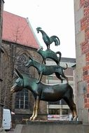 Sculpture of Bremen Town Musicians