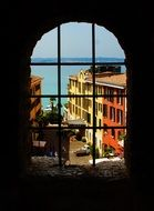 view from the castle window in Sirmione