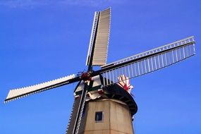 close-up of a windmill in east frisia
