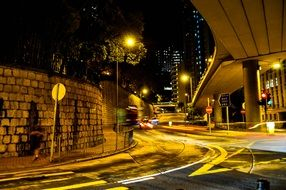 Hong Kong city street lighting