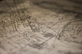 plans of architecture in city
