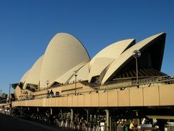 Sydney opera house in Australia closer view