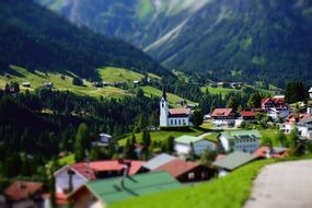 Mountain Village Church miniature