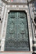 big doors to the church in florence