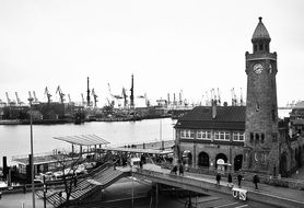 port of hamburg Landungsbrücken