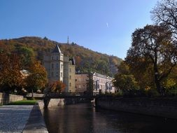 small quiet river in Karlovy Vary