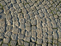 paving stones on the road