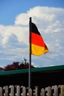 german flag in the front yard