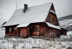 winter house in mountains