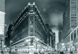 34th street at night in new york