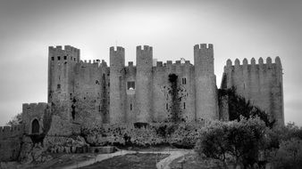 black and white castle building in portugal