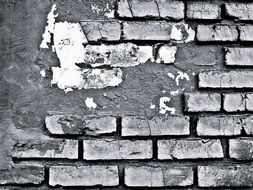 grunge partly plastered Brick Wall