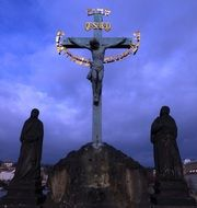 monument of crucified Jesus