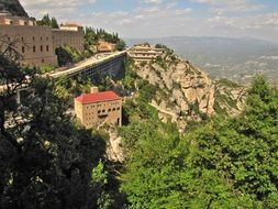 mountain montserrat in spain