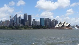 Sydney Opera House harbor view
