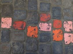 painted pavement on the ground