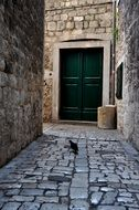paved street in Trogir