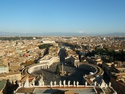 Aerial view of Rome city