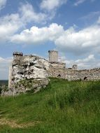 castle ruins on a hill in poland