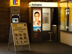 Photo booth on a Railway Station