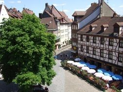 landscape of old town in German