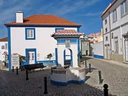 old house with white walls in portugal