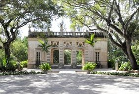 arched gate in a park in miami