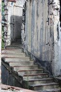 old building stairs demolition