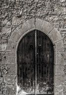 door on a medieval monastery