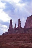 monuments on a hill in arizona