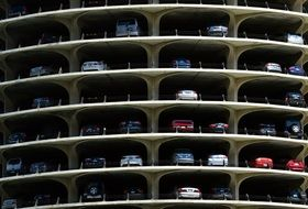 multi-storey parking with cars