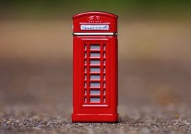 tiny red phone booth
