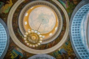 ceiling of capitol in Salt Lake City